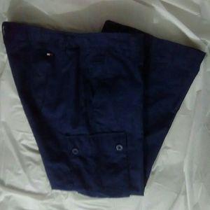 TOMMY HILFIGER Women's Blue Gingham Pants